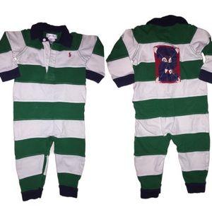 Boys Striped Ralph Lauren Romper outfit size 9m